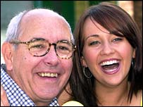 Malcolm Hebden (Norris) and Samia Ghadie (Maria) from Coronation Street