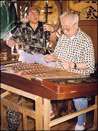 Craftsmen construct ancient Chinese instruments