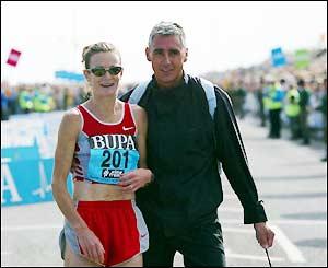 Ireland's Sonia O'Sullivan poses wth husband Nick