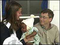 Melinda and Bill Gates in Africa