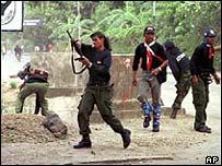 Fighting in East Timor 1999