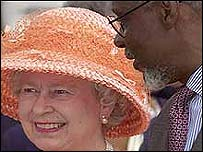 Queen Elizabeth with PJ Patterson