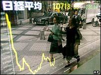 Tokyo stock market board