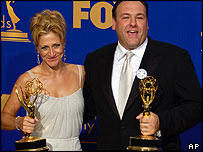 James Gandolfini and Edie Falco
