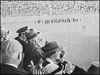Муссолини на футболе