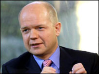 William Hague MP speaking on Breakfast with Frost