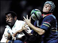 Lean van Dyk (right) is worried about his career in South Africa