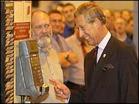 Prince Charles at the Weir Group factory