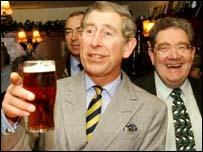 Prince Charles and a pint, PA