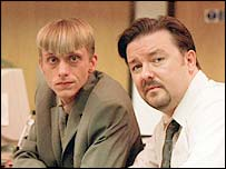 MacKenzie Crook and Ricky Gervais star in The Office