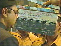 Clapperboard on set of 'Netaji: The Last Hero'