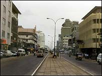 Main street in Colombo