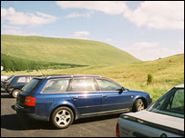 Cars on Brecon Beacons