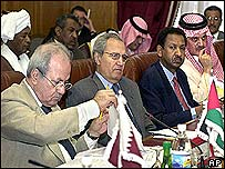 Arab League foreign ministers in Cairo