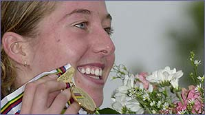Nicole celebrates gold medal success