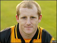 Ex-Berwick striker Alex Burke