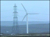 Windfarm turbine and pylon