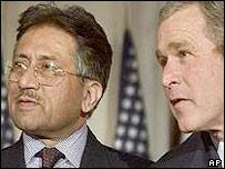Bush and Musharraf