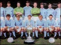 Mike Doyle (back row, second left) with team members from 1969-70