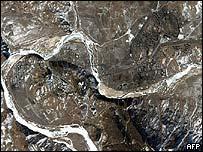 Yongbyon nuclear reactor - aerial shot