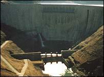 Katse Dam in Lesotho