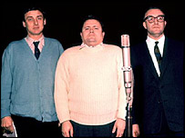 Left to right: Spike Milligan, Harry Secombe, Peter Sellers