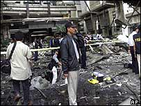 Jakarta blast scene