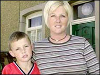 Max Palmer with mum Patricia