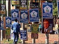 Male-dominated election posters in South Africa