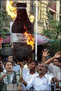 Protestors in Calcutta