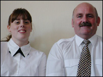 Emma and her father Paul Williams