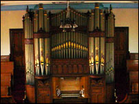The organ in Pisgah Chapel