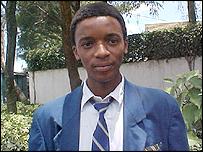Kenyan student, Ben Mwangi