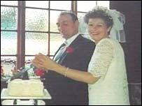 The Bowens on their wedding day