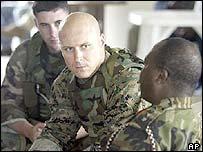 Marines from US liason team