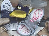Shoes at a Nigerian market