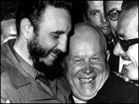 Fidel Castro with Nikita Khrushchev