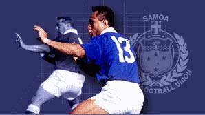 Samoa perform the manu before facing Scotland