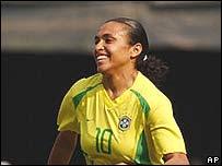 Marta, goleadora del equipo brasile�o