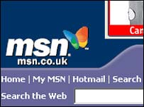 MSN UK homepage, Microsoft