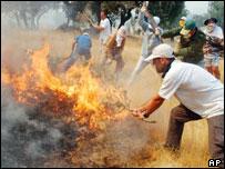 Fire in Spain