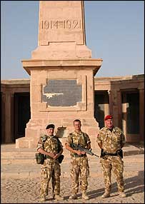 British troops at Basra memorical (picture by Christian Fraser)