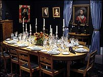 Sir Elton's dining room