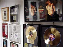 Sir Elton John gold and platinum discs