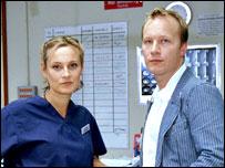 Paul Kenyon with Holby City actress