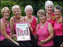 Angela Baker, Tricia Stewart, Beryl Bamforth, Ros Fawcett, Lynda Logan and Chris Clancy.