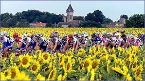 Tour de France takes in some stunning scenery