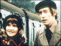 Actors Michael Crawford and Michelle Dotrice in Some Mothers Do 'Ave 'Em