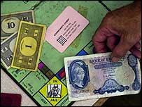 Picture of Monopoly board used by the gang