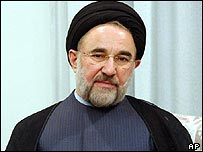 Reformist Iranian President Mohammad Khatami